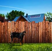 Detektei - Grafik Nachbarschaftsstreitigkeiten Gartenzaun