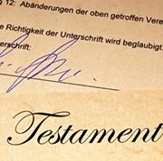 Detektei - Grafik Erbschaftsangelegenheiten - Testament